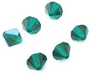 12mm Emerald Preciosa Czech Crystal Bicone Beads