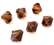 12mm Smoke Preciosa Czech Crystal Bicone Beads