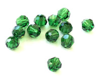 8mm Green Turmaline Preciosa Czech Crystal Round Beads