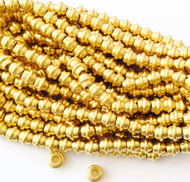 Authentic natural Bicone round Brass  spacer Beads