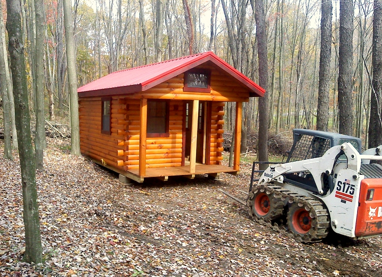 Amish Built Log Cabin