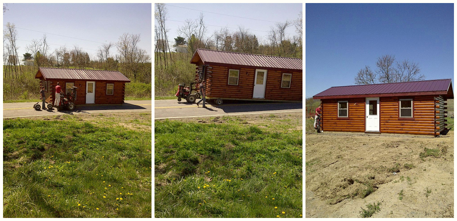 Amish Built Log Cabin to Enon Valley, PA