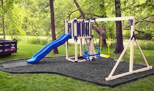 Rubber Mulch & curbing for safe fun for kids