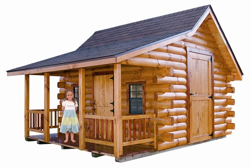 Pioneer log cabin wayside lawn structures for Wilderness cabin plans