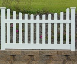 Vinyl Wide Concave Picket Fence