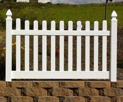 Standard Wide Picket Fence