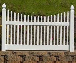 Vinyl Narrow Concave Picket Fence