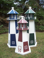 Checkered Poly Lighthouses | Wayside Lawn Structures in Columbiana, Ohio