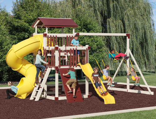 Discovery Depot Set D68-8 Swingset | Adventure World Playsets