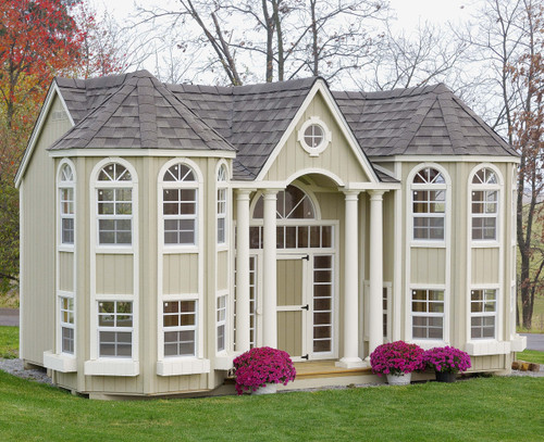 10x16 Grand Portico Mansion with standard features