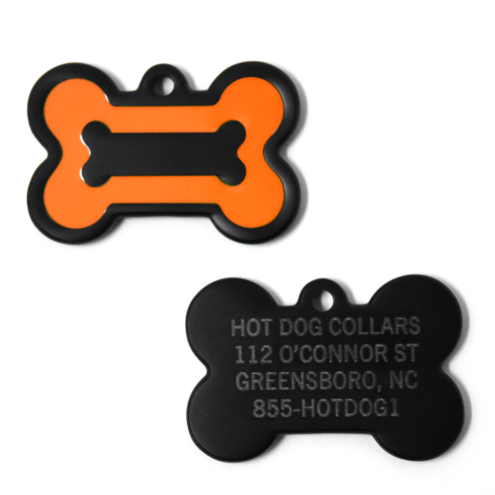 Hot Dog Personalized Pet/Dog ID Tag - Laser Engraved. Inc...