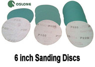 100 Discs L338 Oslong Abrasives Green Film 6-inch Sanding Discs Choose Backing and Grit