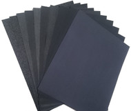 "22 Sheets Oslong Abrasives Premium Latex Backed Wet Dry Silicon Carbide Sand Paper Variety Pack 5.5"" x 9"""