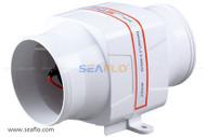 """SEAFLO 4"""" In-Line Blower 12V 270 CFM"""