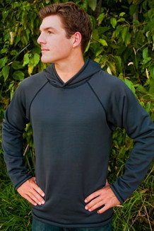 MEN'S HOODIE / Solid Falcon (Black thread)