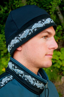 ARCTIC HAT / (Hybrid) / Solid Black,  / Salmon-Navy (trim)