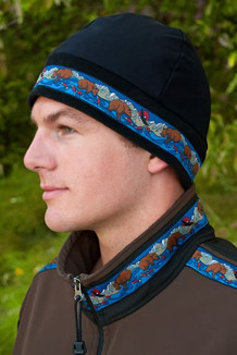 ARCTIC HAT / (Hybrid) / Solid Black,  / Katmai-Navy (trim)