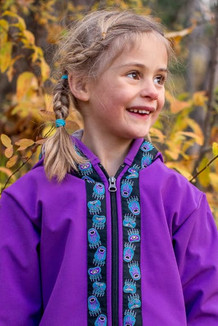 BEACHBERRY JACKET / (Softshell)  / Razzleberry, / Bear Tracks-Purple (trim)