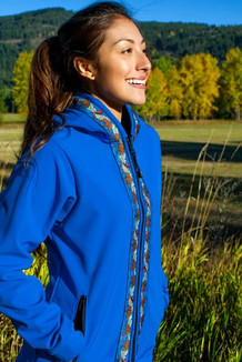 DENALI JACKET / (Softshell)  / Pacific Blue, / Katmai-Navy (trim)