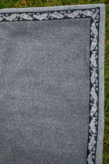 5' x 5'  / (Thermal Fleece) / Charcoal Heather / Salmon-Grey (trim)