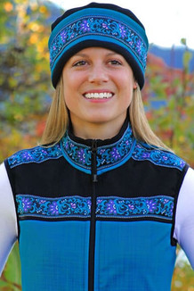 WOMEN'S KODIAK VEST / (Softshell) /  Ocean, Black / Wild Geranium (trim)