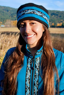 AURORA HAT / (Softshell) / Ocean, Black,  / Salmon-Sky (trim)