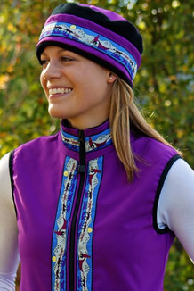 WOMEN'S GLACIER VEST / (Softshell) /  Razzleberry / Race Is On-Purple (trim)