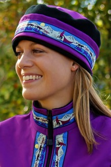 AURORA HAT / (Softshell) / Razzleberry,  / Race Is On-Purple(trim)