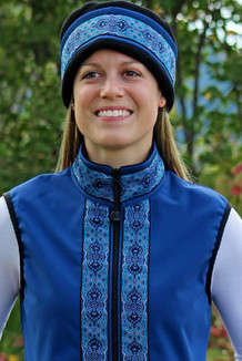 WOMEN'S GLACIER VEST / (Softshell) /  Bluestone / Tres Belle-Blue (trim)