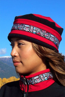 AURORA HAT / (Softshell) / Ruby,  Black,  / Totem-Brite (trim)