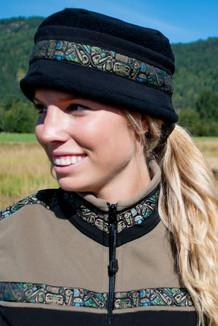 AURORA HAT / (Softshell) /  Solid Black,  / Totem-Tan (trim)