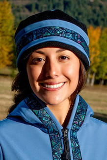 AURORA HAT / (Softshell) /   Twilight, Black,  / Totem-Aqua (trim)