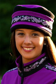 AURORA HAT / (Softshell) /  Razzleberry, Black,  / Salmon-Purple (trim)