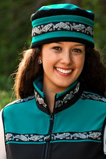 AURORA HAT / (Softshell) / Teal, Black,  / Salmon-Grey (trim)