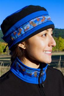 AURORA HAT / (Softshell) / Pacific Blue, Black,  / Sea Otter-Brite (trim)