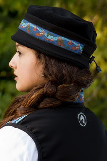 AURORA HAT / (Softshell) / Solid Black,  / Sea Otter-Navy (trim)