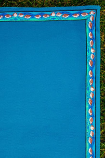 BLANKET - 5' x 5'  / (Thermal Fleece) / Teal, / Sandpipers-Teal (trim)