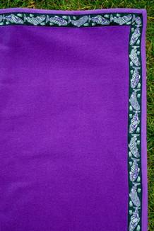 BLANKET - 5' x 5'  / (Thermal Fleece) / Amethyst, / Salmon-Purple (trim)