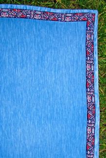 BLANKET - 5' x 5'  / (Thermal Fleece) / Waterfall, / Totem-Brite (trim)