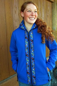 DENALI JACKET / (Softshell)  /   Pacific Blue, / Alaska Chatter-Cobalt(trim)