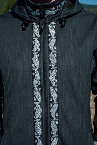 Close up of Zipper trim added
