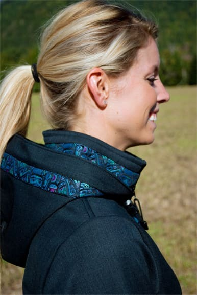 Collar trim & Hood with trim added