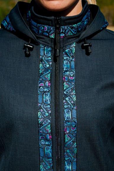 Trim added to Collar, Zipper & Hood
