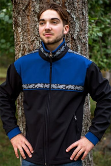 KODIAK JACKET / (Softshell) / Black, Bluestone, /  Salmon-Navy (trim)