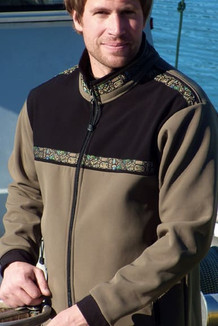 KODIAK JACKET / (Softshell) / Alder, Black, /  Totem-Tan (trim)