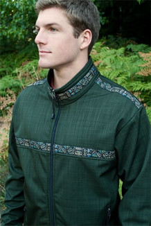 TUNDRA JACKET / (Softshell) / Fjord, / Totem-Tan (trim)