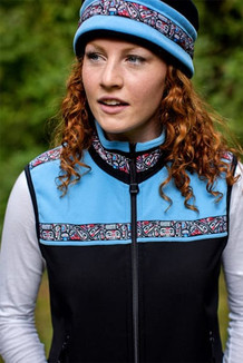 WOMEN'S KODIAK VEST / (Hybrid)  / Black, Aster Blue, / Totem-Brite (trim)