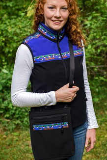 WOMEN'S KODIAK VEST / (Softshell) /  Black, Blueberry, / Puffins-Brite (trim)