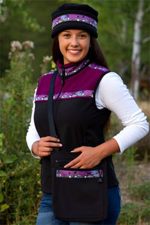 WOMEN'S KODIAK VEST / (Hybrid)  / Black, Mulberry, / Loons-Plum (trim)