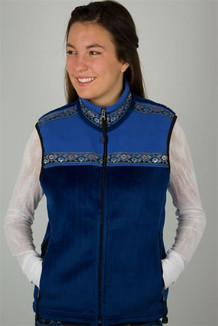 WOMEN'S KODIAK VEST / (Windblock Fleece) / Sapphire, French Blue, / Floral Wave (trim)